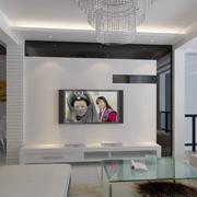 唯美单身公寓硅藻泥电视背景墙装修效果图
