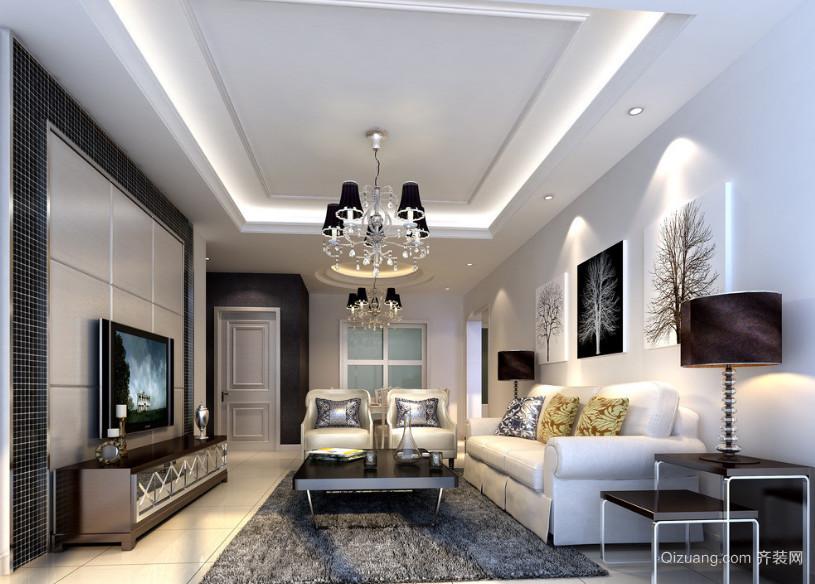 现代室内欧式客厅装修效果图实例