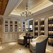 精致大别墅新古典风格酒柜效果图片