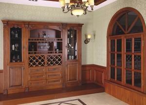 2016复古风格二层别墅酒柜装修效果图片