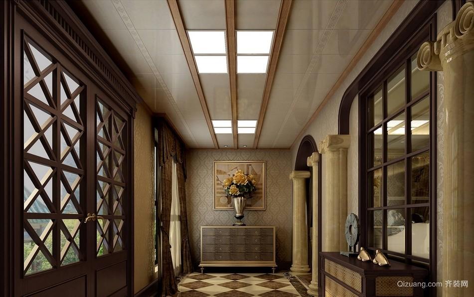 后现代风格别墅走廊吊顶装修设计效果图