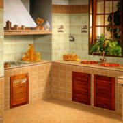 时尚独特的别墅型复古风格厨房装修效果图