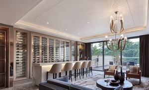 2016奢华大型复式楼新古典酒柜效果图片
