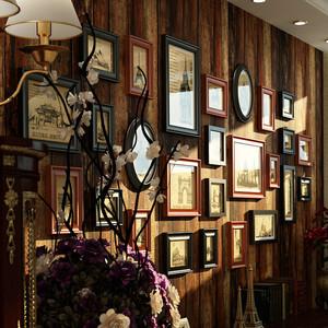 100平米两室一厅古典照片墙设计效果图