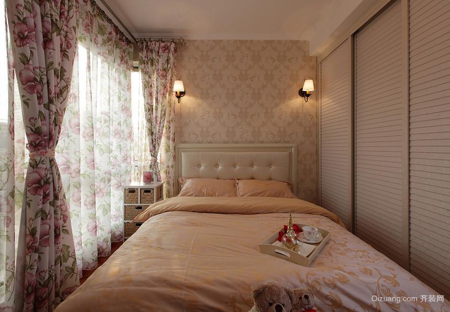 2016精致大户型田园风格卧室装修效果图片