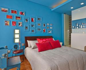 2016单身公寓宜家照片墙设计效果图