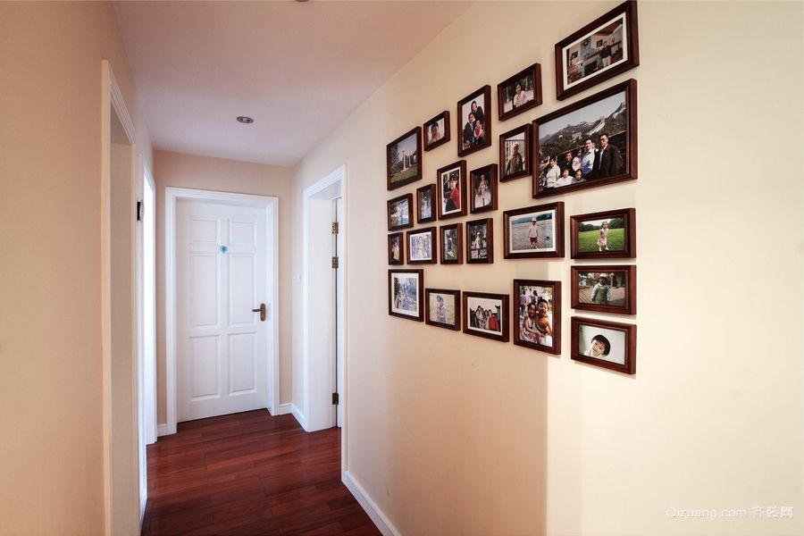 现代小户型过道精美照片墙设计效果图