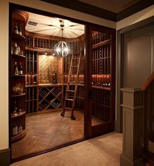 豪华大复式楼家居新古典酒柜效果图片