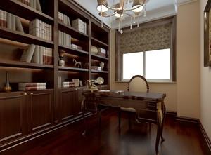 89平米两居室古典书房设计装修效果图