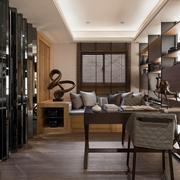 单身公寓后现代风格书房设计装修效果图