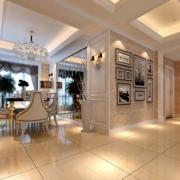 90平米大户型欧式餐厅室内装修效果图大全