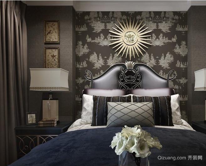 自建别墅巴洛克风格卧室背景墙装修效果图
