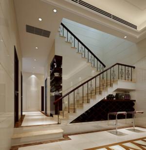 现代唯美的别墅型室内楼梯装修效果图