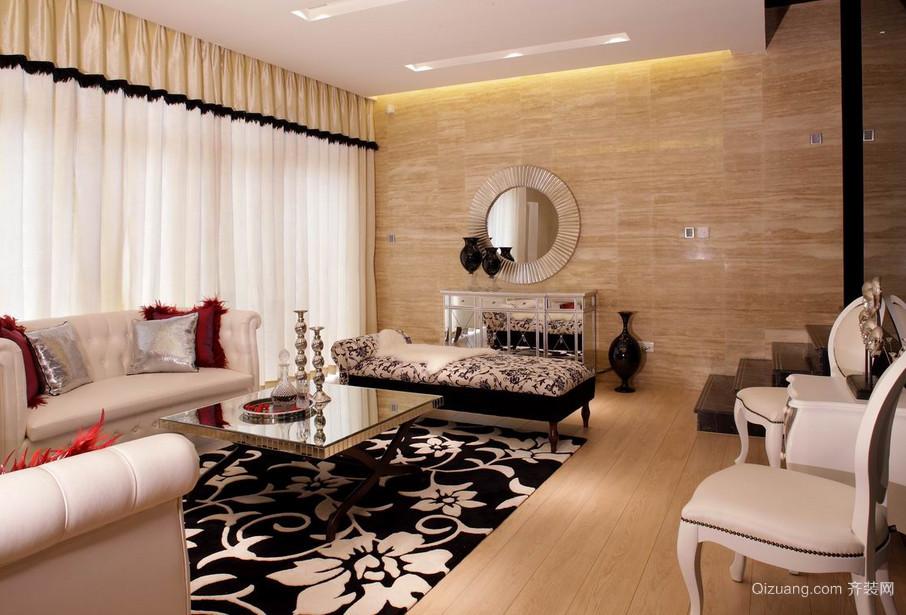 100平米新古典风格客厅装修效果图欣赏