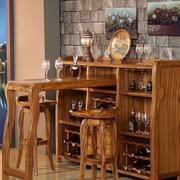 三室一厅新古典实木吧台酒柜效果图片