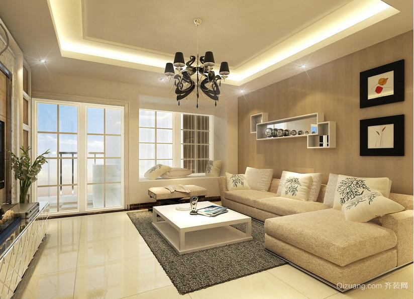 大户型精美的现代简约客厅装修效果图