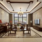 大户型精致大气的中式客厅室内装修效果图