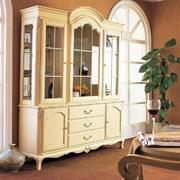 欧式风格别墅古典米白色酒柜效果图片