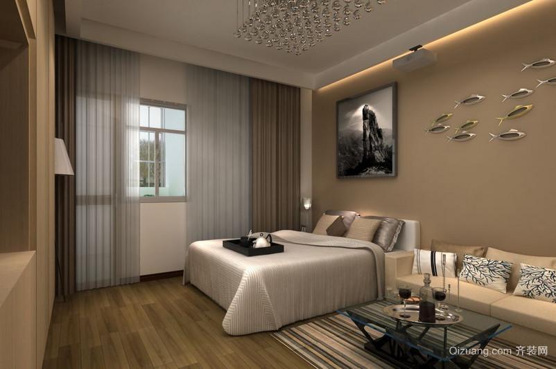 大户型现代欧式卧室窗帘装修效果图实例