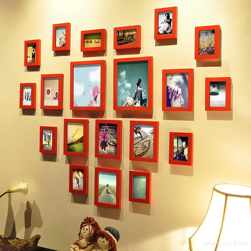 65㎡小户型公寓宜家照片墙设计效果图
