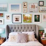 2016清新自然的小卧室照片墙设计效果图
