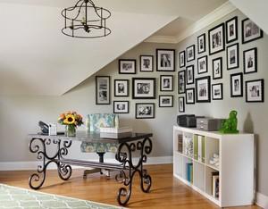 2016法式跃层住宅精美照片墙设计效果图