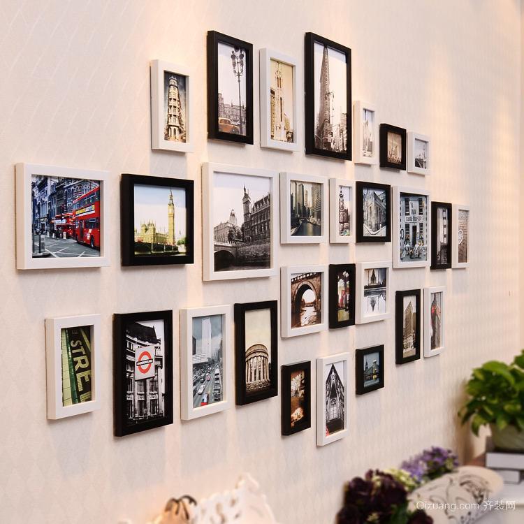韩式风情71平米家居照片墙设计效果图