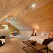 自然舒适的大户型阁楼装修效果图大全