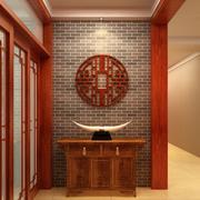 三居室中式复古风玄关设计装修效果图