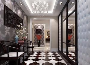 高端大别墅新古典风玄关设计装修效果图