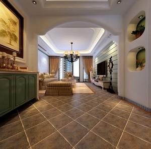 2016古典玄关地板瓷砖设计装修效果图