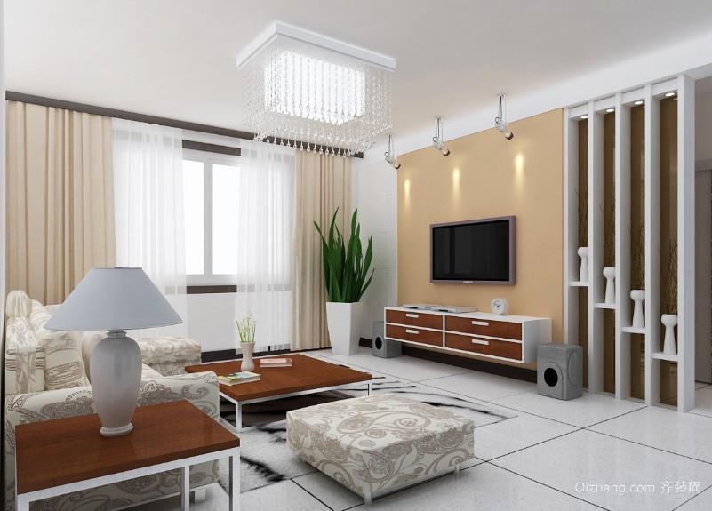 都市一居室现代客厅背景墙装修效果图