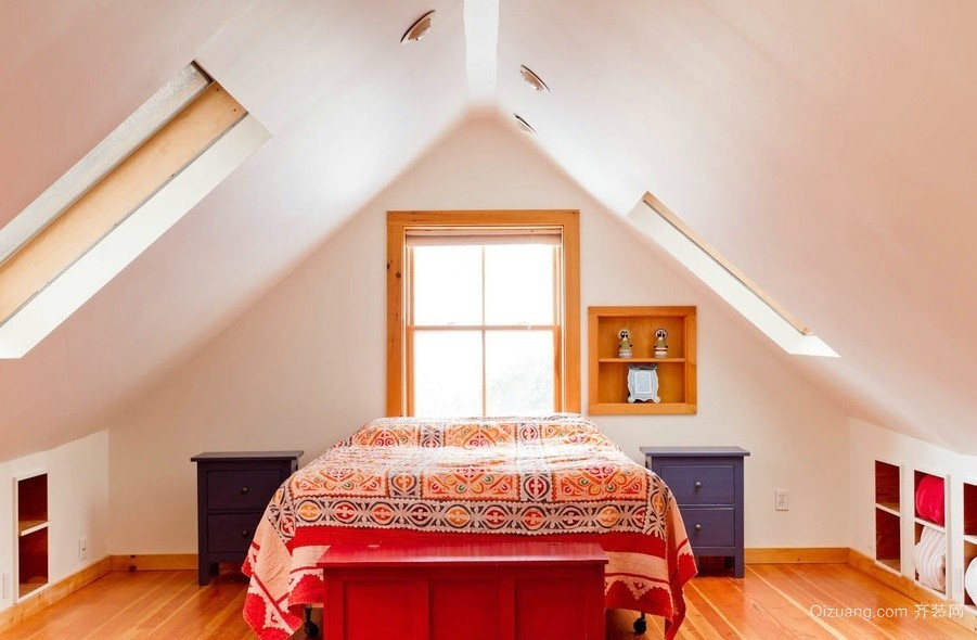 简约东南亚风格阁楼卧室装修效果图大全
