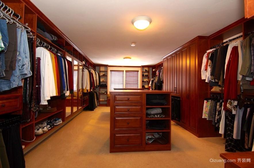 大户型别墅美式风格衣帽间装修效果图片