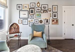 新古典76平米住宅客厅照片墙设计效果图