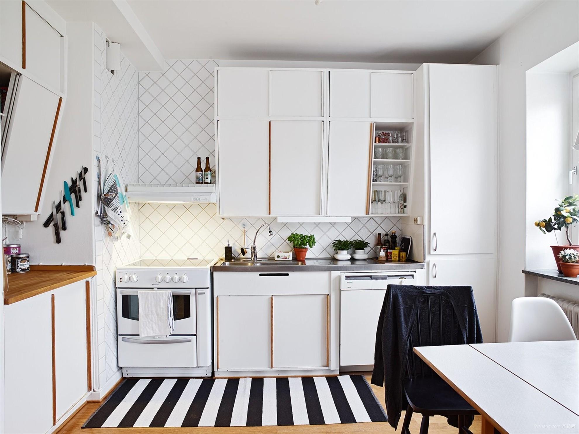明亮北欧风小户型厨房装修设计效果图
