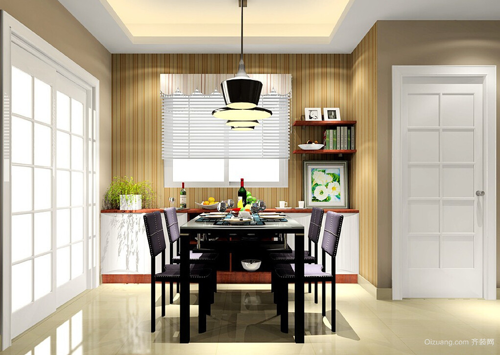 89平米家居餐厅背景墙设计装修效果图
