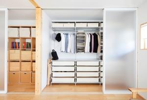 67平米小户型家居北欧风衣帽间设计图