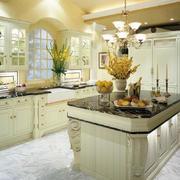 2016别墅法式风情厨房装修设计效果图