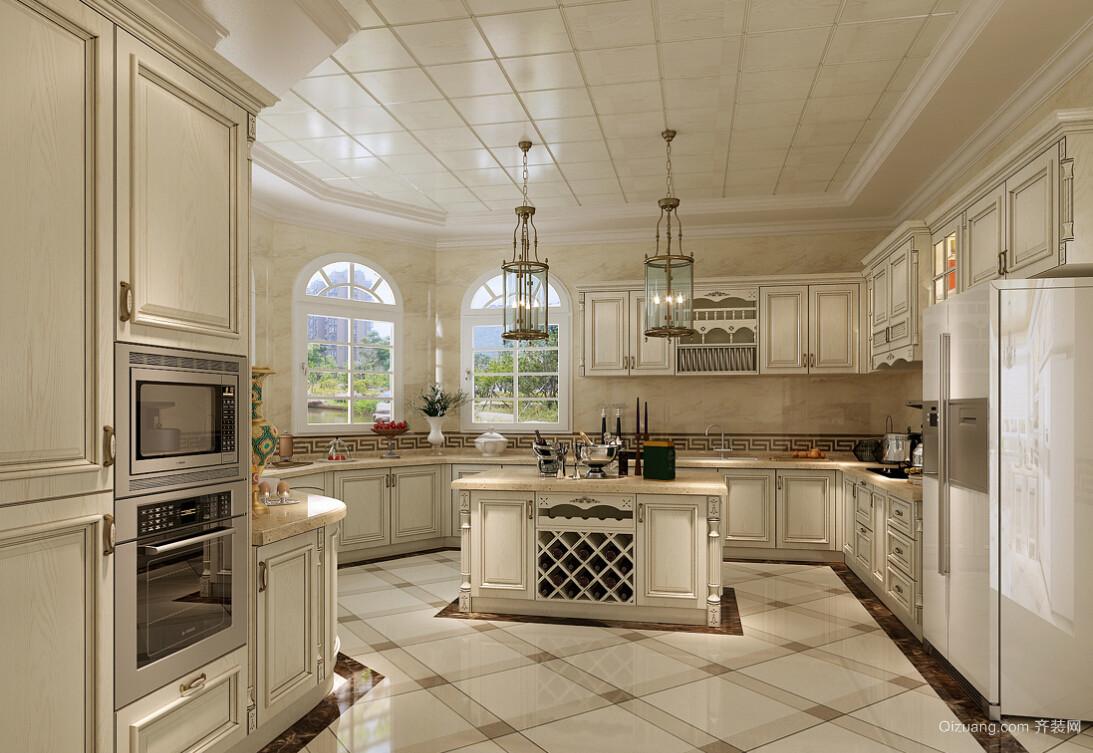 城堡式别墅简欧风厨房装修设计效果图