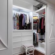65平米单身公寓简欧风格衣帽间设计图