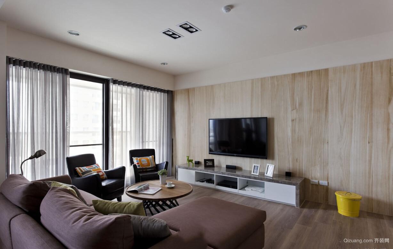 朴素110平米家居客厅电视背景墙效果图片