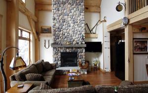 美式乡村风复式楼客厅电视背景墙效果图
