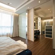 133平米大户型宜家开放式衣帽间设计图