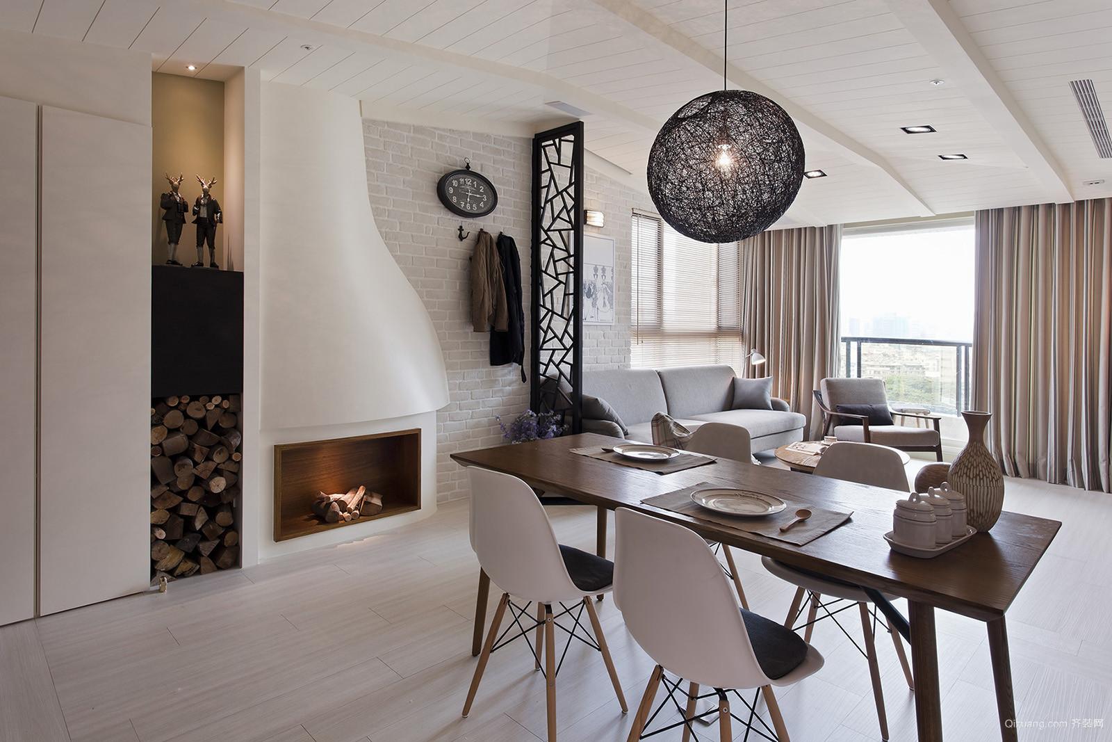 混搭风格单身公寓餐厅设计装修效果图