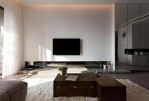 简约114平米家居客厅电视背景墙效果图片
