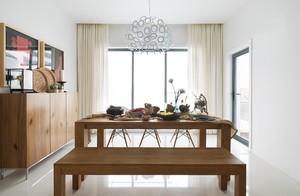 朴素摩登的99㎡家居餐厅设计装修效果图