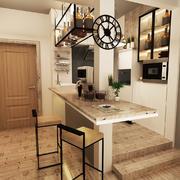 小户型家居自然风厨房装修设计效果图
