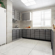 简约现代化的大型厨房装修设计效果图