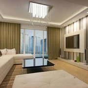 两室一厅朴素客厅电视背景墙效果图片